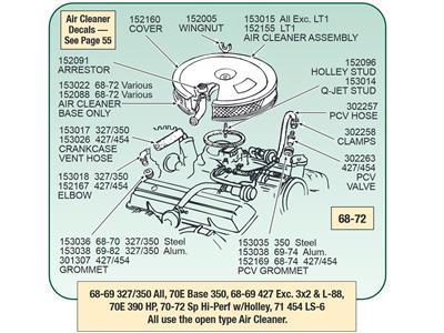 66-70 PCV Valve to Carburetor hose - 23